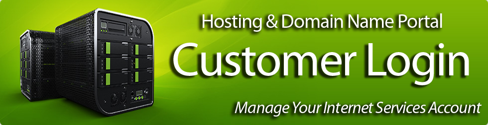 Customer's login here to manage your internet hosting and domain name services online.